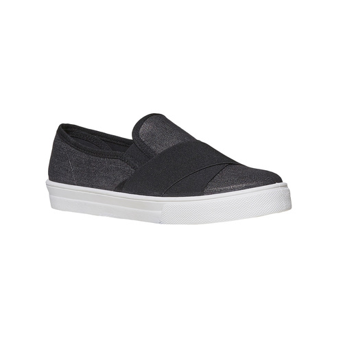 Slip-on da donna north-star, nero, 519-6382 - 13