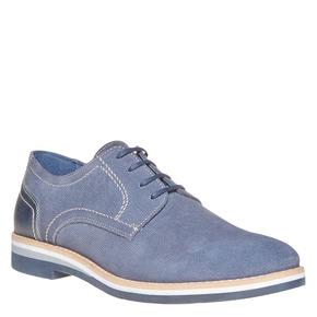 Scarpe basse in pelle con suola appariscente bata, blu, 823-9258 - 13