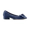 Ballerine con tacco bata, blu, 523-9420 - 13