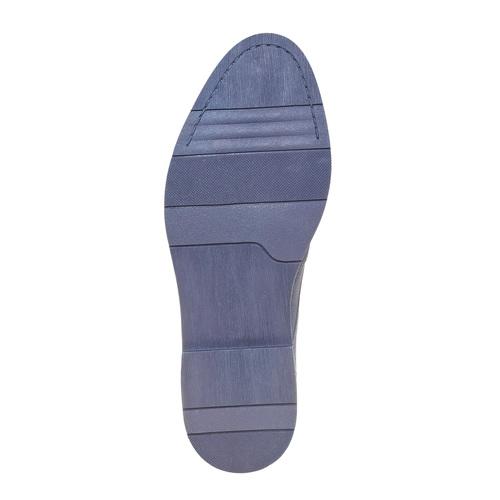 Scarpe basse in pelle con suola appariscente bata, blu, 823-9258 - 26