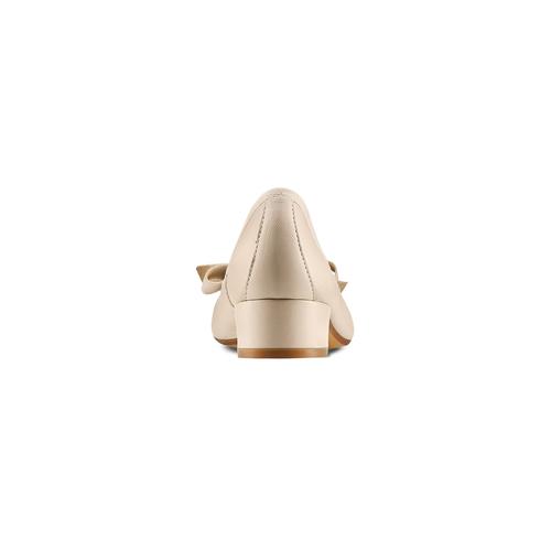 Ballerine con tacco bata, beige, 524-8420 - 15