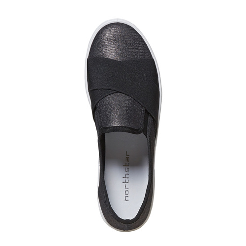 Slip-on da donna north-star, nero, 519-6382 - 19