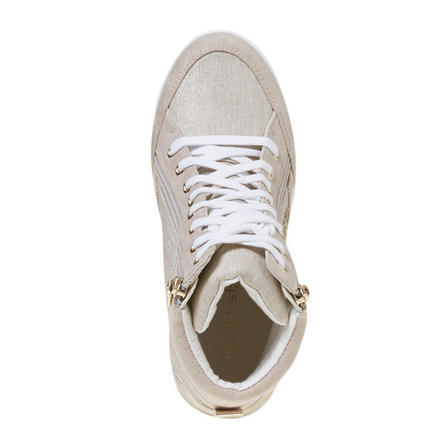 Sneakers con tacco a zeppa north-star, bianco, 729-1670 - 19
