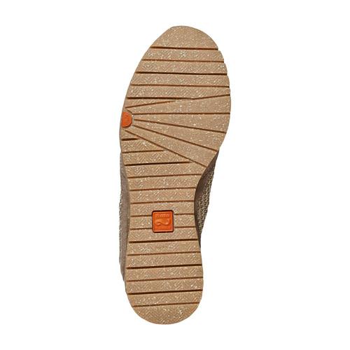 Sneakers da donna in pelle flexible, beige, 529-8587 - 26