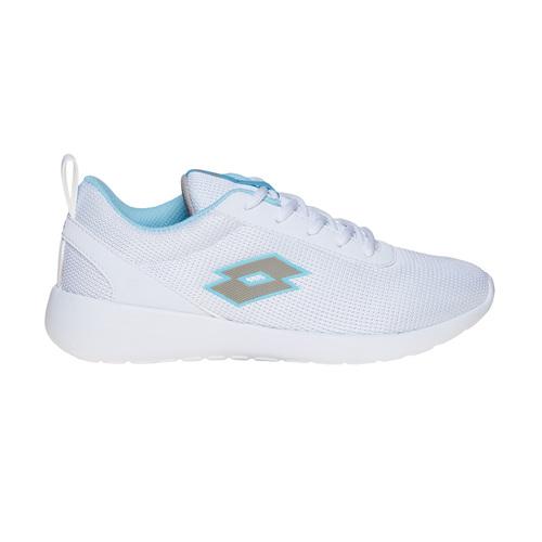 Sneakers da donna con dettagli blu lotto, bianco, 509-1952 - 15