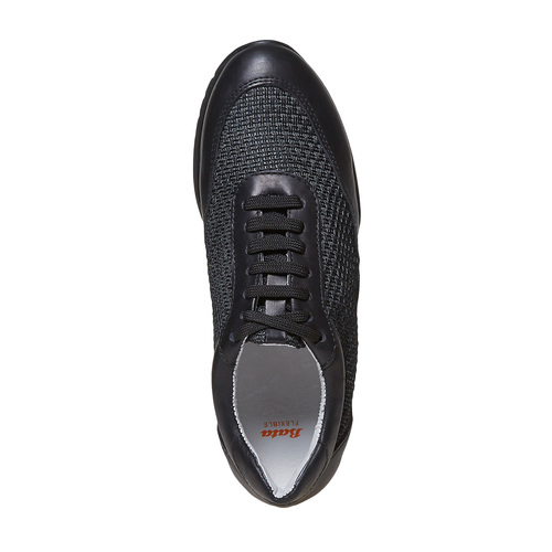 Sneakers da donna in pelle flexible, nero, 529-6586 - 19