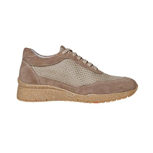 Sneakers da donna in pelle flexible, beige, 529-8587 - 15