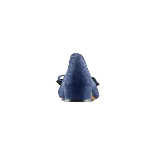 Ballerine con tacco bata, blu, 523-9420 - 15
