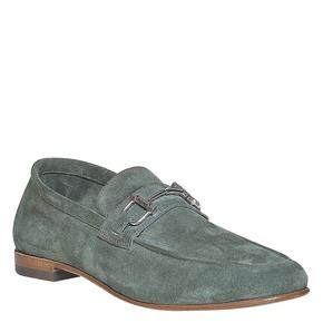 Mocassini in pelle con fibbia bata-the-shoemaker, verde, 853-7269 - 13