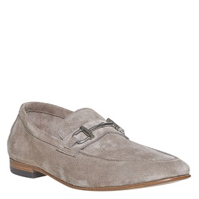 Mocassini in pelle da uomo bata-the-shoemaker, grigio, 853-2269 - 13