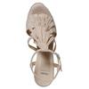 Sandali di pelle con tacco stabile bata, giallo, 763-8583 - 19