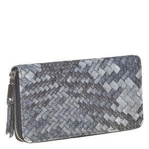 Portafoglio da donna con tessuto a maglia bata, nero, 941-6149 - 13