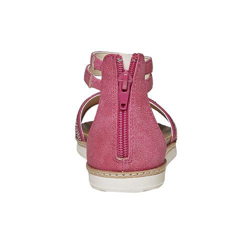Sandali da ragazza con strass mini-b, rosso, 361-5196 - 17