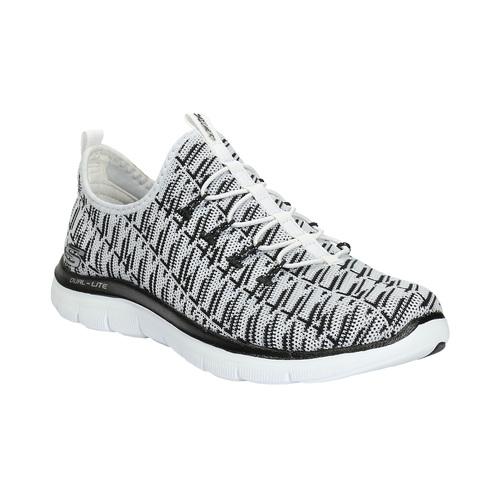 Sneakers da donna con motivo skechers, bianco, 509-1967 - 13