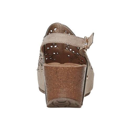 Sandali da donna con plateau bata, grigio, 669-2248 - 17