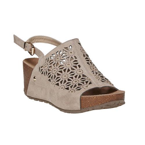 Sandali da donna con plateau bata, grigio, 669-2248 - 13