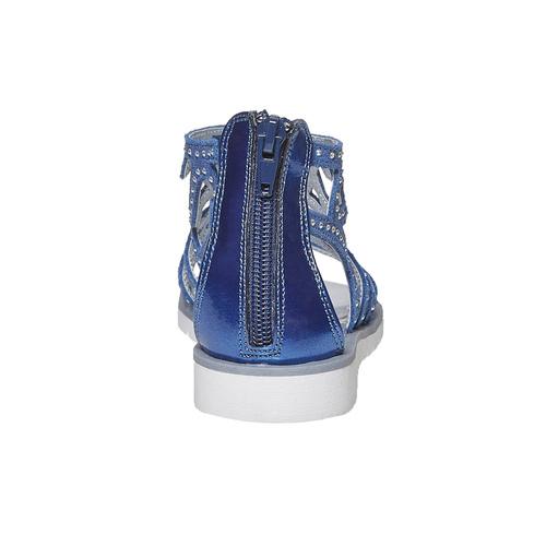 Sandali blu da ragazza con strass mini-b, blu, 363-9216 - 17