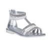 Sandali bianchi da ragazza con strass mini-b, bianco, 361-1217 - 13