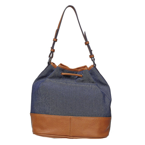 Borsetta in stile Bucket Bag bata, blu, 969-9332 - 26