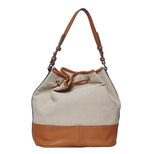 Borsetta da donna in stile Bucket Bag bata, marrone, 969-8332 - 26