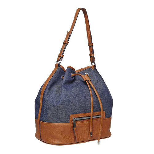 Borsetta in stile Bucket Bag bata, blu, 969-9332 - 13