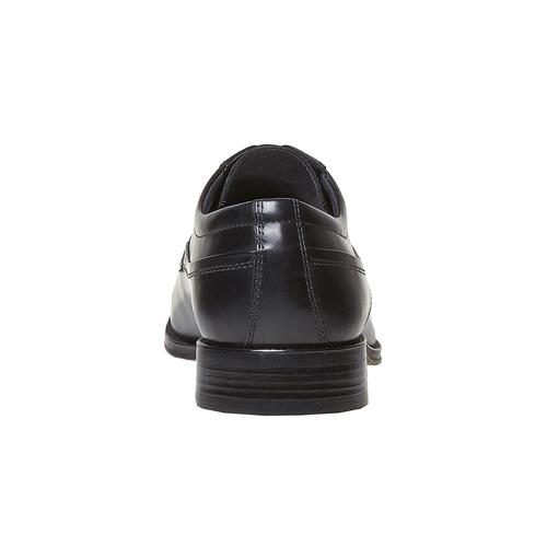 Scarpe basse nere in pelle, nero, 824-6454 - 17