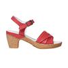 Sandali in pelle da donna con tacco bata-touch-me, rosso, 664-5231 - 15