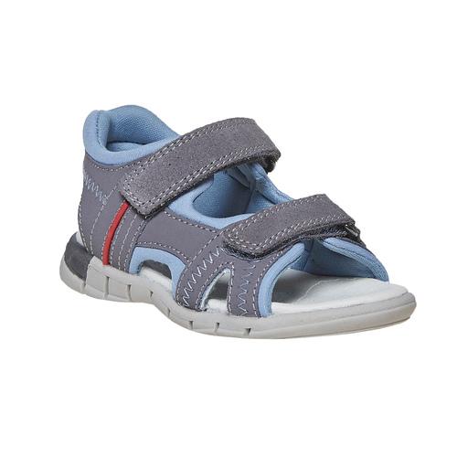 Sandali in pelle da bambino mini-b, grigio, 264-2184 - 13