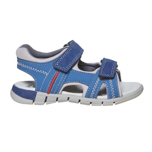Sandali in pelle blu mini-b, blu, 264-9184 - 15