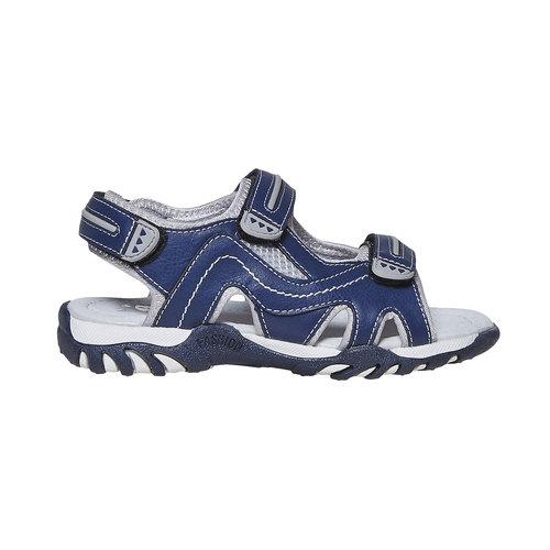 Sandali da bambino con chiusura a velcro mini-b, blu, 361-9221 - 15