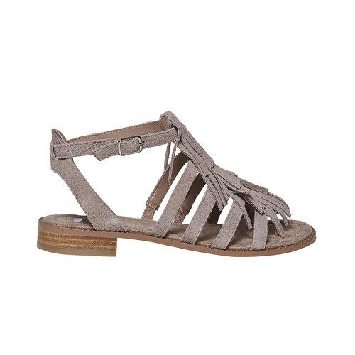 Sandali in pelle con frange bata, 563-2442 - 15