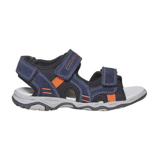 Sandali in pelle da bambino mini-b, blu, 363-9198 - 15