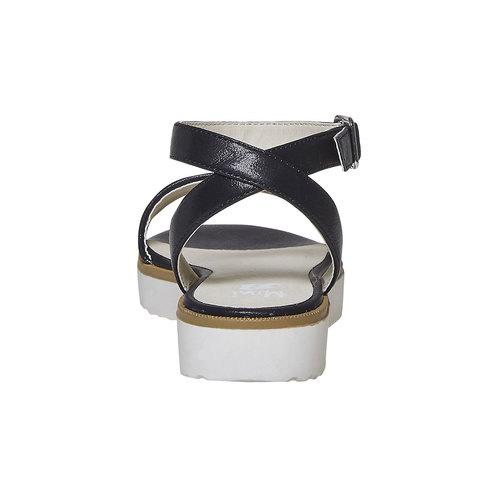 Sandali da ragazza con suola appariscente mini-b, nero, 361-6194 - 17