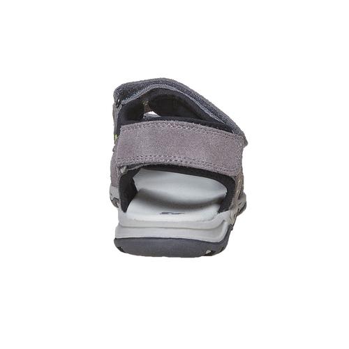 Sandali in pelle da bambino mini-b, grigio, 363-2198 - 17