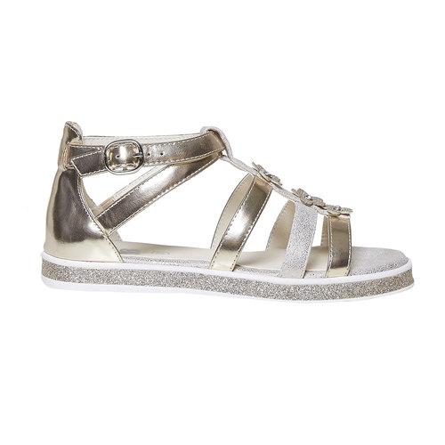 Sandali dorati da ragazza mini-b, marrone, 361-3203 - 15