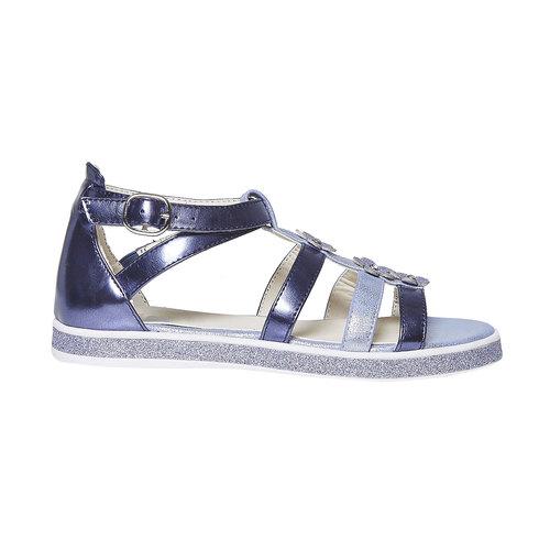 Sandali metallizzati da bambina mini-b, viola, 361-9203 - 15