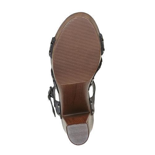 Sandali da donna con intreccio bata, nero, 761-6622 - 26