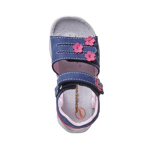 Sandali da bambina con applicazioni floreali, blu, 264-9198 - 19