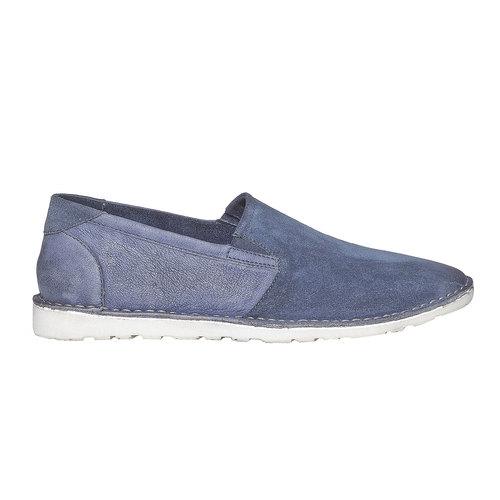 Scarpe da uomo in stile Slip-on bata, blu, 853-9241 - 15
