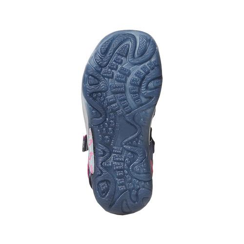 Sandali da bambina con applicazioni floreali, blu, 264-9198 - 26