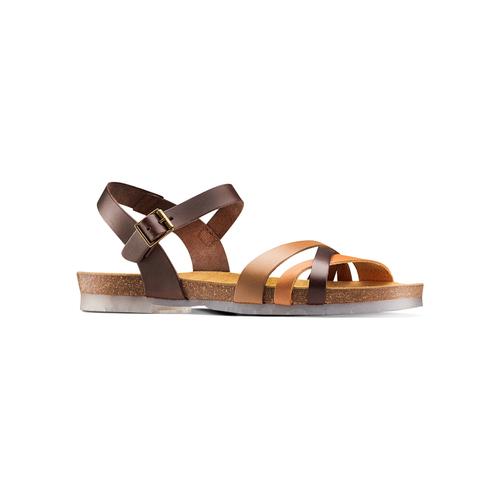 Sandali in vera pelle weinbrenner, marrone, 564-4254 - 13