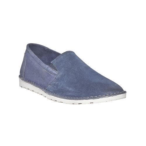 Scarpe da uomo in stile Slip-on bata, blu, 853-9241 - 13