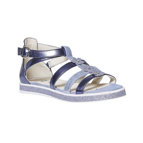 Sandali metallizzati da bambina mini-b, viola, 361-9203 - 13