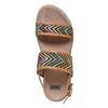 Sandali da donna con motivo bata, marrone, 569-4438 - 19
