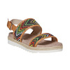 Sandali da donna con motivo bata, marrone, 569-4438 - 13