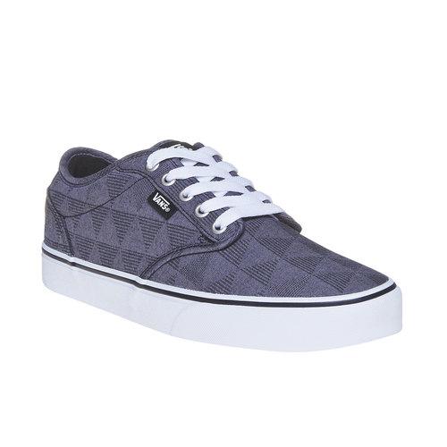 Sneakers da uomo con motivo vans, nero, 889-6199 - 13