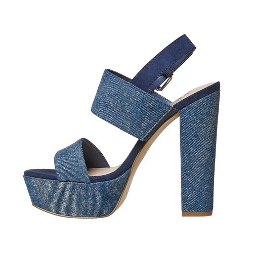 Sandali blu con tacco alto bata, blu, 769-9541 - 26