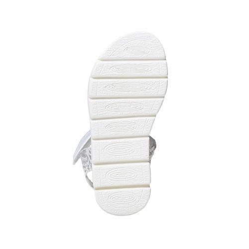 Sandali argentati da bambina, bianco, 261-1196 - 26