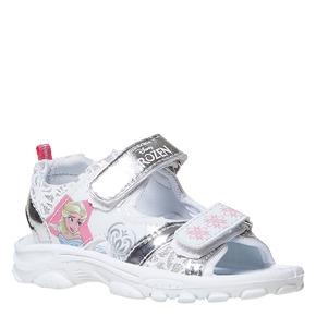 Sandali da bambina con stampa, bianco, 261-1197 - 13