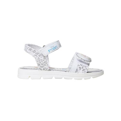 Sandali argentati da bambina, bianco, 261-1196 - 15
